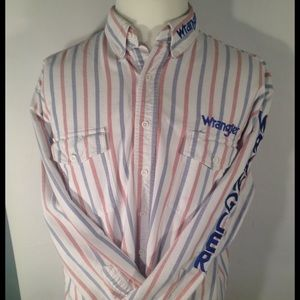Wrangler long sleeve western style shirt